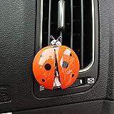 SIOJB Adornos para automóviles Aromatizantes en ambientadores para autos Clip de ventilación de aire Mariquita linda Difusor de perfume automático Olor para automóviles Aroma Decoración Accesorios para automóviles-naranja