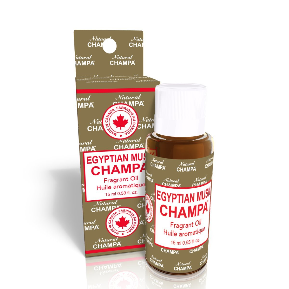 Natural Champa Fragrant Oil Concentrated Fragrance Oil - Ideal for Environmental Scenting, Bath, Perfumery, Oil Burners & Diffusers - Made with Natural Essential Oils.(15 ml.) - Egyptian Musk Natural Scents