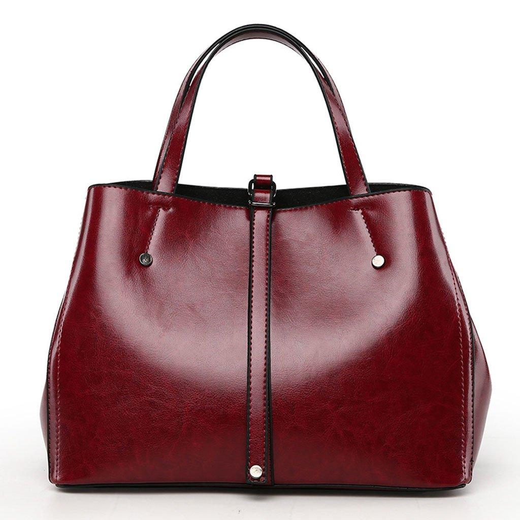 94fb7b887e3 Amazon.com : European And American Simple Ladies Bag Handbag Shoulder Bag  Trend Messenger Bag (Color : Wine red) : Sports & Outdoors