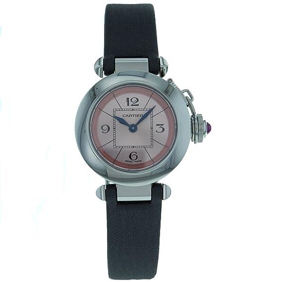 Cartier W3140026 - Reloj de Pulsera Mujer, Color Negro: Amazon.es: Relojes