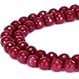 Ruby free form bead faceted strand 16 inch S0149