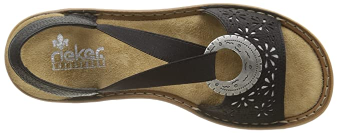 3b12d5f1c573 Rieker Women s 60886-00 Heels Sandals
