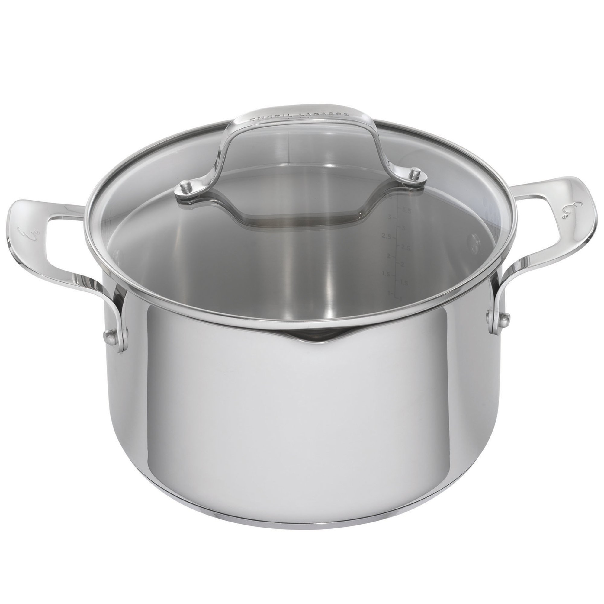 Emeril Lagasse 62958 Stainless Steel Dutch Oven, 5-Quart, Silver