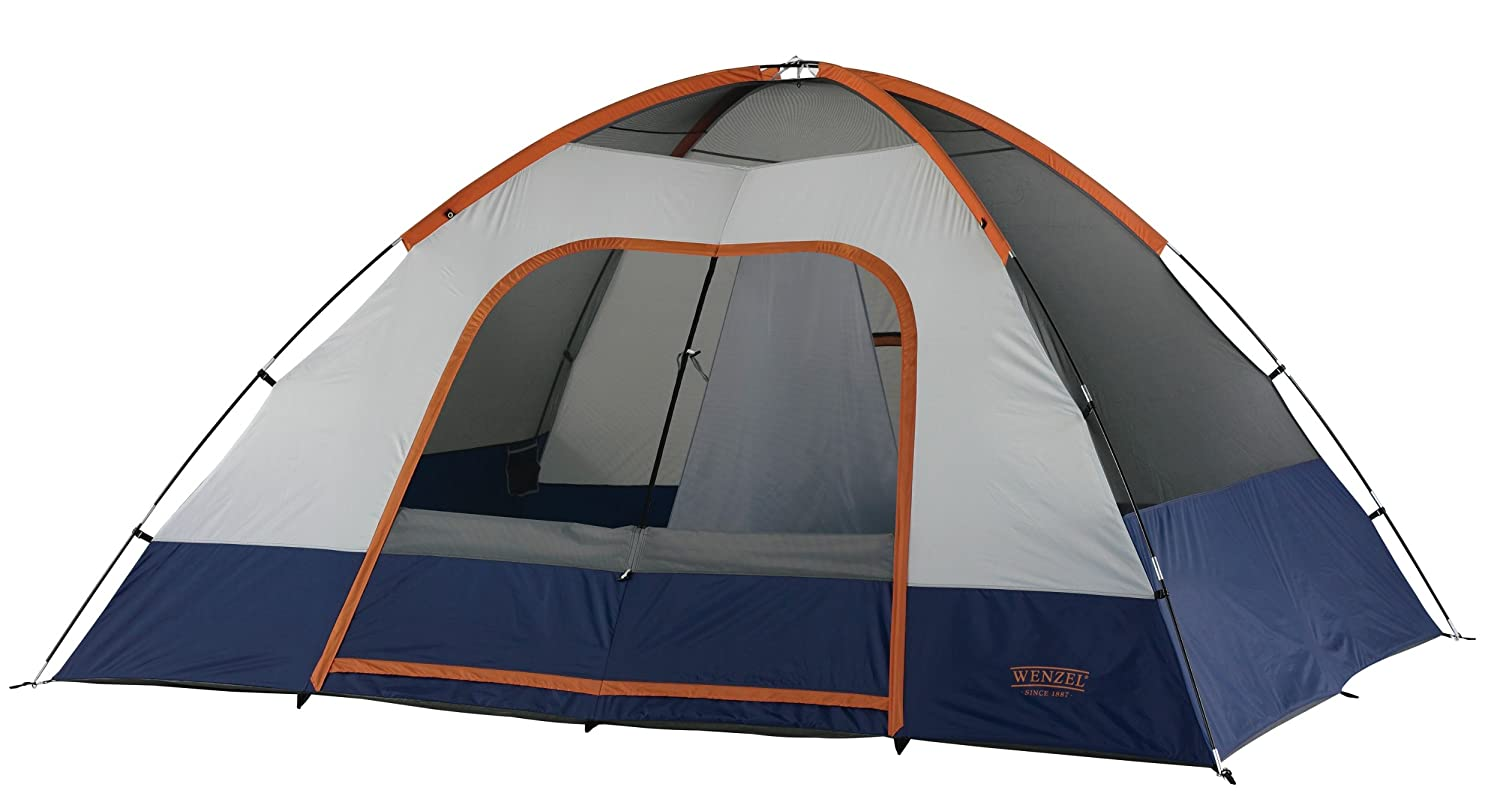 Amazon.com  Wenzel Salmon River 2 Room Family Dome Tent Orange/Blue  Sports u0026 Outdoors  sc 1 st  Amazon.com & Amazon.com : Wenzel Salmon River 2 Room Family Dome Tent Orange ...