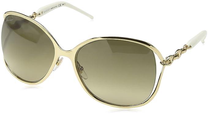f89bc10b541 Gucci Sunglasses - 4250   Frame  Gold Lens  Brown Gradient ...