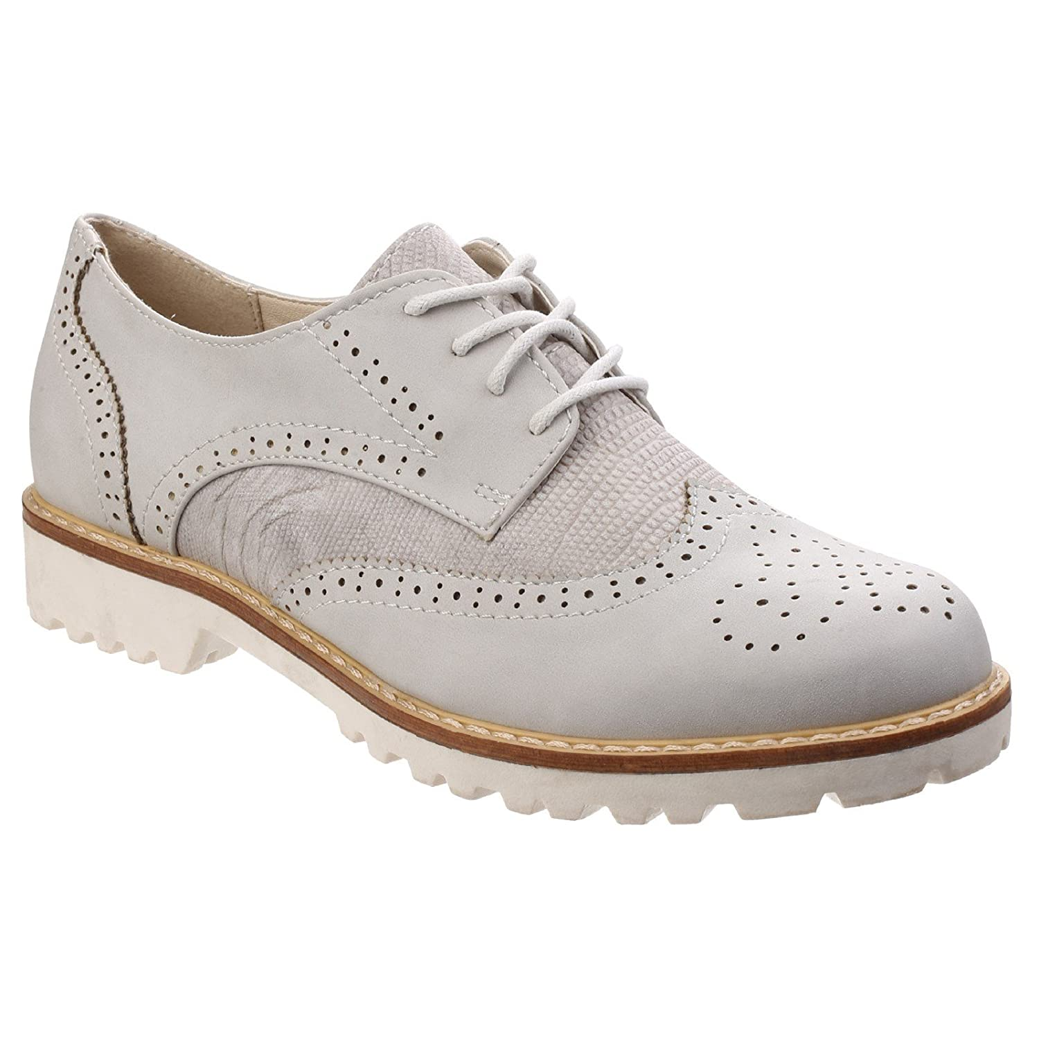 Divaz Womens/Ladies Carey Lightweight Cushioned PU Derby Brogue Shoes OxslqZ