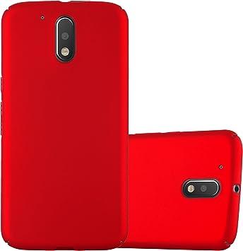 Cadorabo Funda para Motorola Moto G4 / Moto G4 Plus en Metal Rojo: Amazon.es: Electrónica