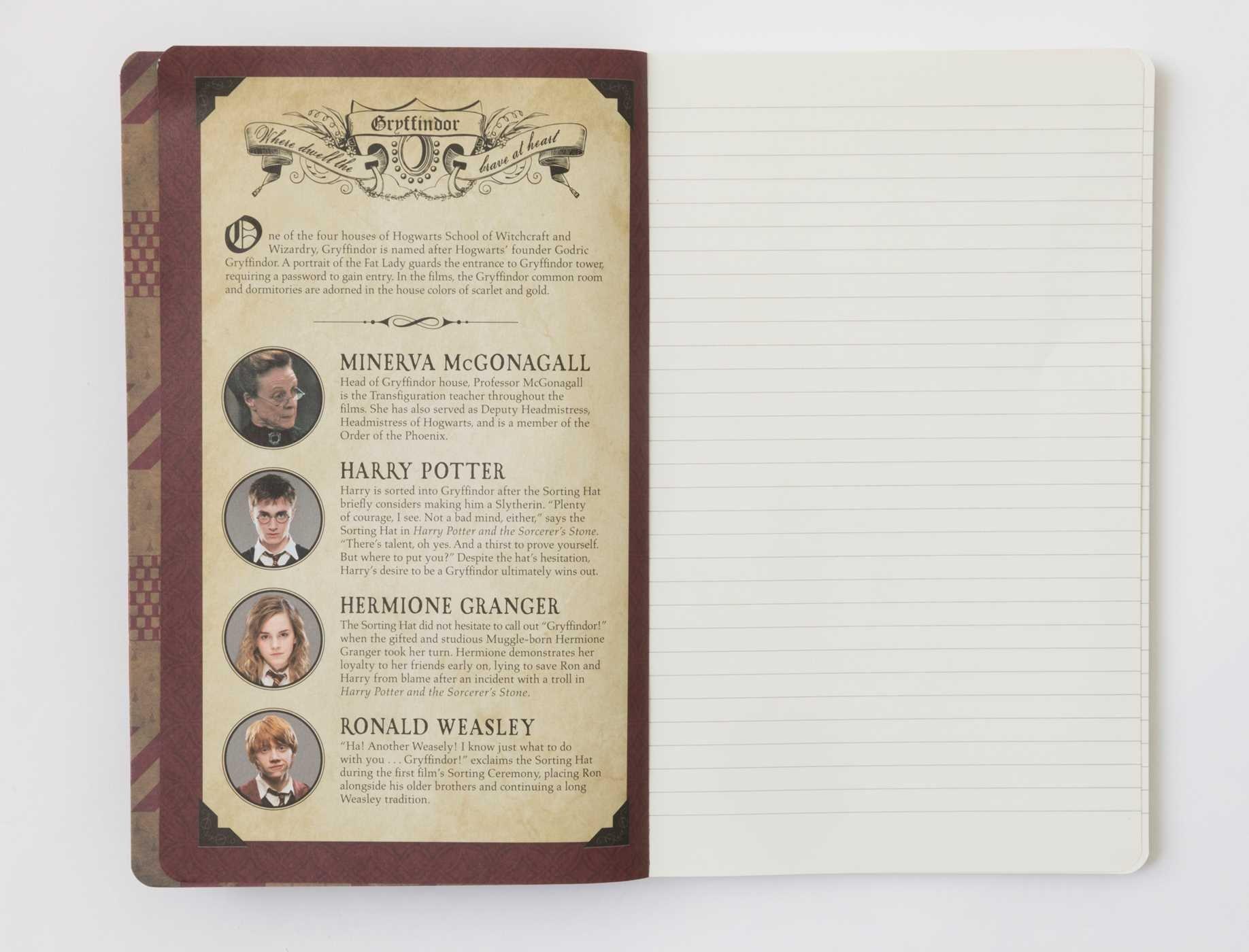 Amazon.com: Harry Potter: Gryffindor Ruled Notebook ...