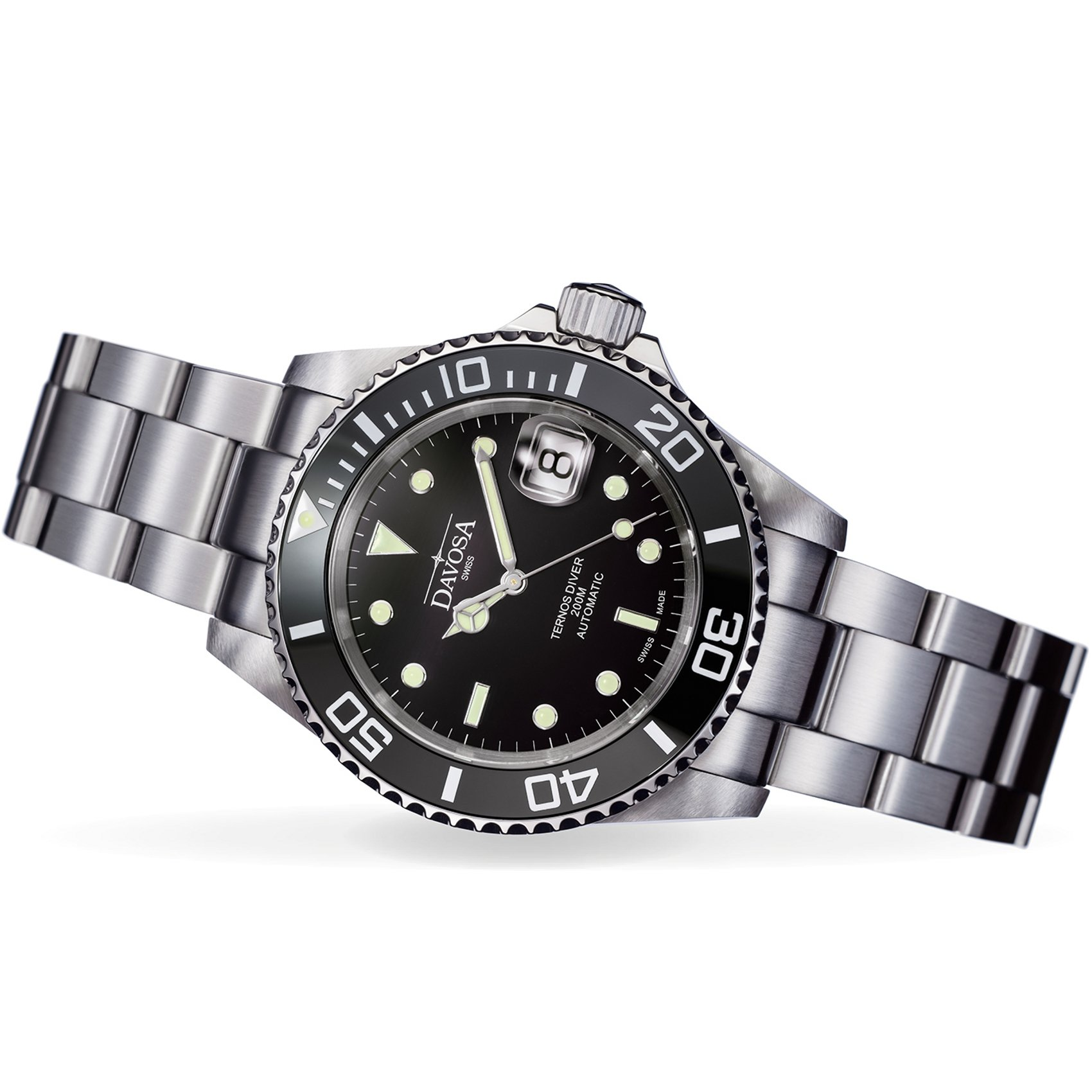 Davosa Swiss Made Men Wrist Watch, Ternos Ceramic 16155550 Professional Automatic Analog Display & Luxury Bezel by Davosa (Image #3)