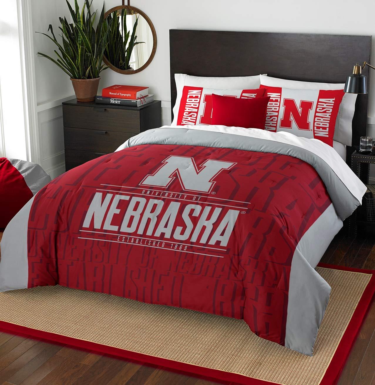 NCAA Nebraska Cornhuskers Modern Take Full/Queen Comforter Set #55112697 by Northwest