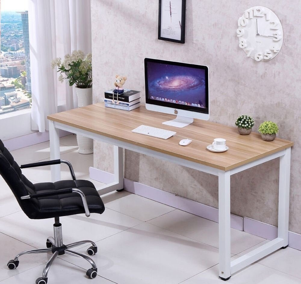 Eight24hours Computer Desk PC Laptop Table Wood Workstation Study Home Office Furniture + FREE E-Book by Eight24hours