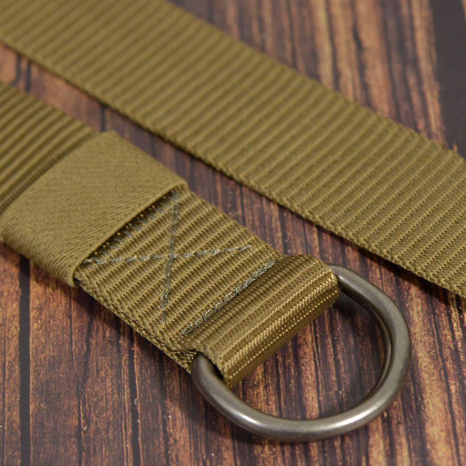 JINIU Military Nylon Belts for Men Women Web Style Strong Double D Ring Buckle Belt