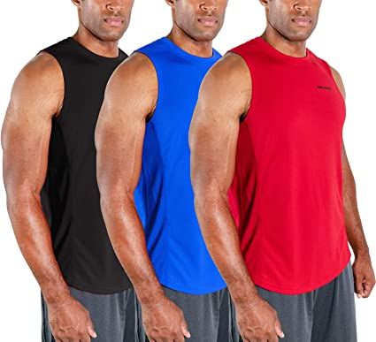 M MOTEEPI Mens Sleeveless Muscle Shirts Workout Athletic Gym Tank Tops Quick Dry