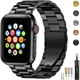 Fitlink Stainless Steel Metal Band for Apple Watch 38/40/42/44mm Strap Replacement Link Bracelet Band Compatible with…