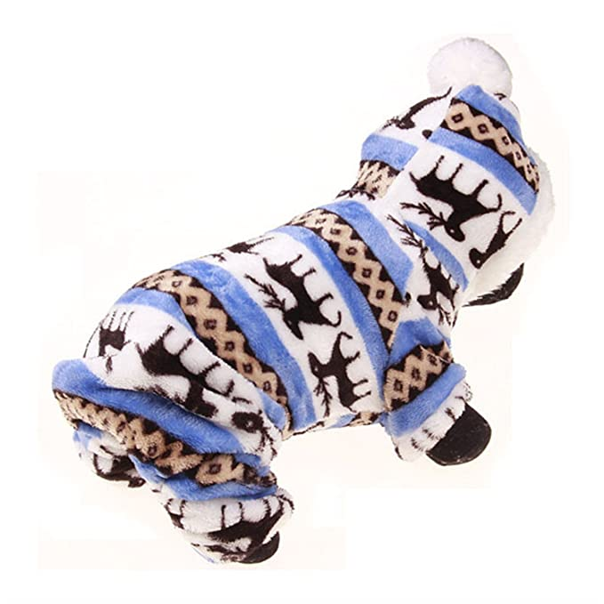 Amazon.com : HuoGuo Winter Pet Dog Clothes For Small Dogs Deer Warm Fleece Coat Jackets Costume Clothing For Puppy Teddy Chihuahua Hoodie Apparel Grey S ...
