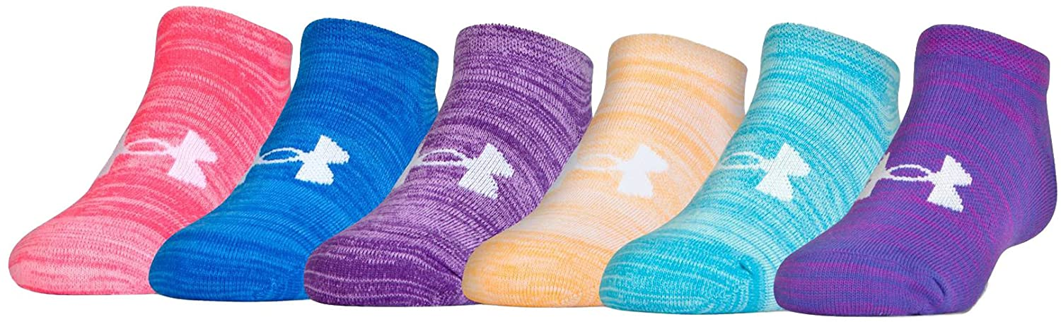 Under Armour Girls Essential Twist 2.0 No Show Socks (6 Pack)