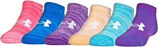 Under Armour Essential Twist No Show - 6 Pack Girls' Sock (Youth Small (Youth Shoe Size 13.5K-4Y), Constellation Purple (1292850-530) / Assorted)