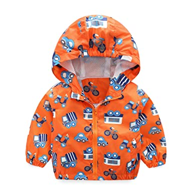 2e5e64a34 Bebone Kids Boys Girls Cute Cartoon Jacket Waterproof Hooded ...