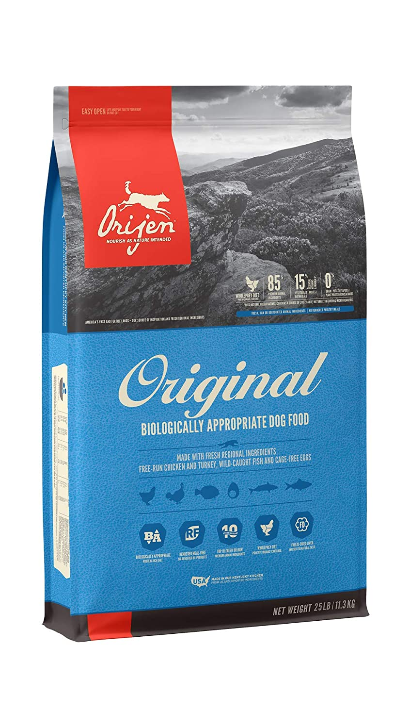 1.Orijen High Protein Dry Dog Food