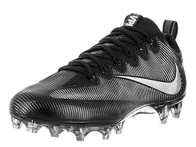 fcc894446 Nike Men's Vapor Untouchable Pro Black/Mtllc Slvr/MTLC Drk Gry Football  Cleat 8.5