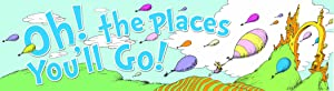 Eureka Dr. Seuss 'Oh The Places You'll Go' Back to School Poster Classroom Supplies - Horizontal Banner 45'' x 12''