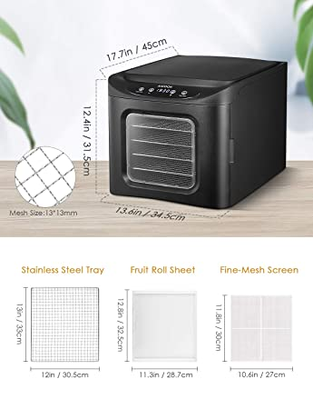 Amazon.com: Aicook Máquina deshidratadora de alimentos ...