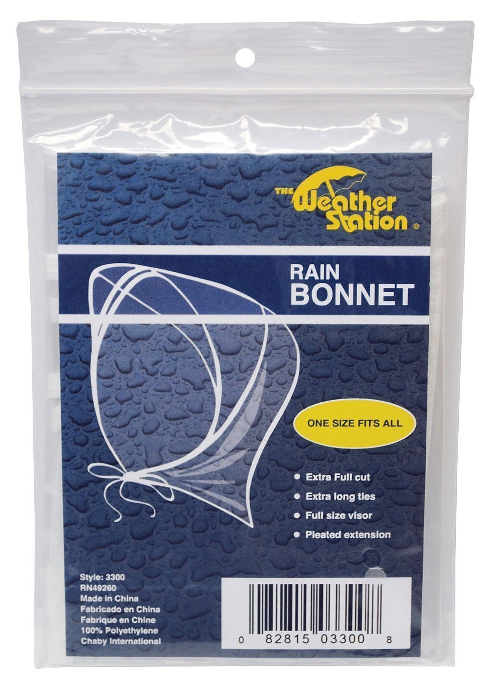 The Weather Station Rain Bonnet, 3-pack Chaby