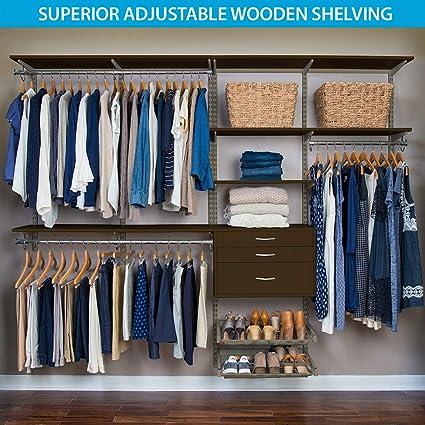 Organized Living FreedomRail Ultimate Adjustable Closet Kit , 96u0026quot;   100u0026quot;, ...