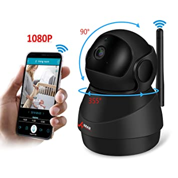 Amazon.com: Monitor de bebé WiFi 1080P Cámara IP, Cámara de ...