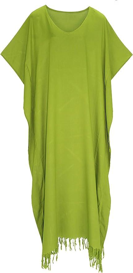 c578 Caftan robe longue vert clair en diagonale Taille Xl 2xl 3xl 4xl 52 54 56 58 60
