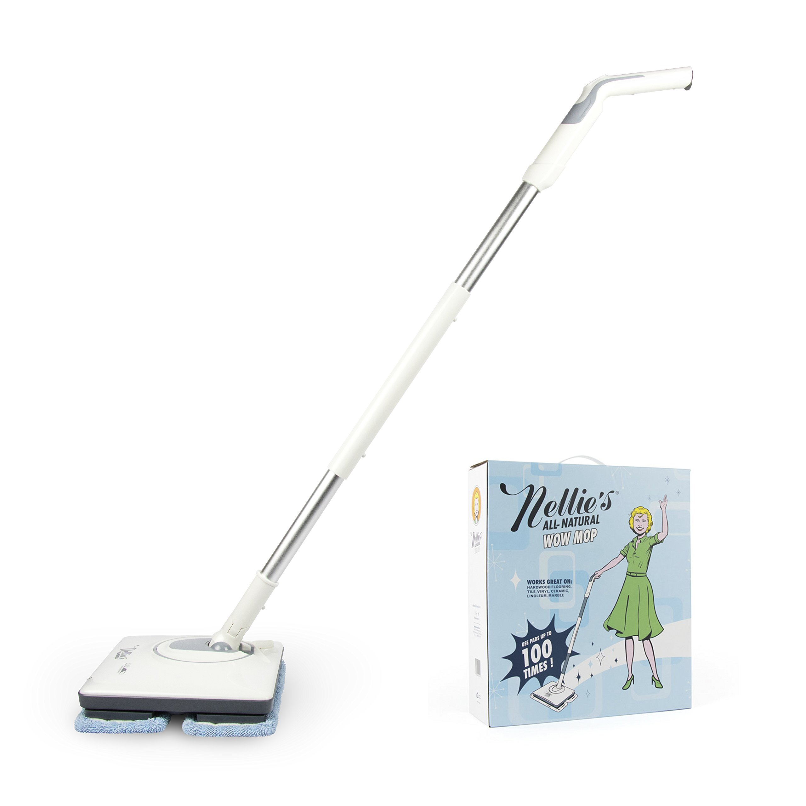 Nellie's All-Natural Wow Mop- Cordless, Light-Weight and Rechargeable