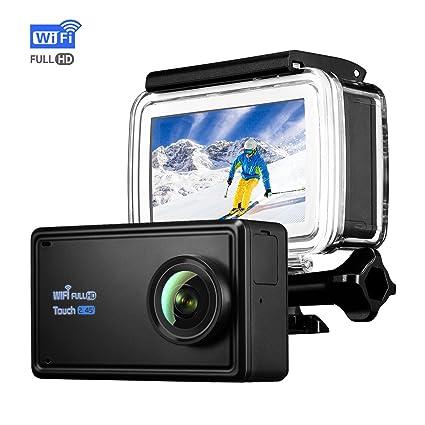 Sport Camera topelek Full HD cámara de acción, 2,45 pulgadas LCD pantalla táctil