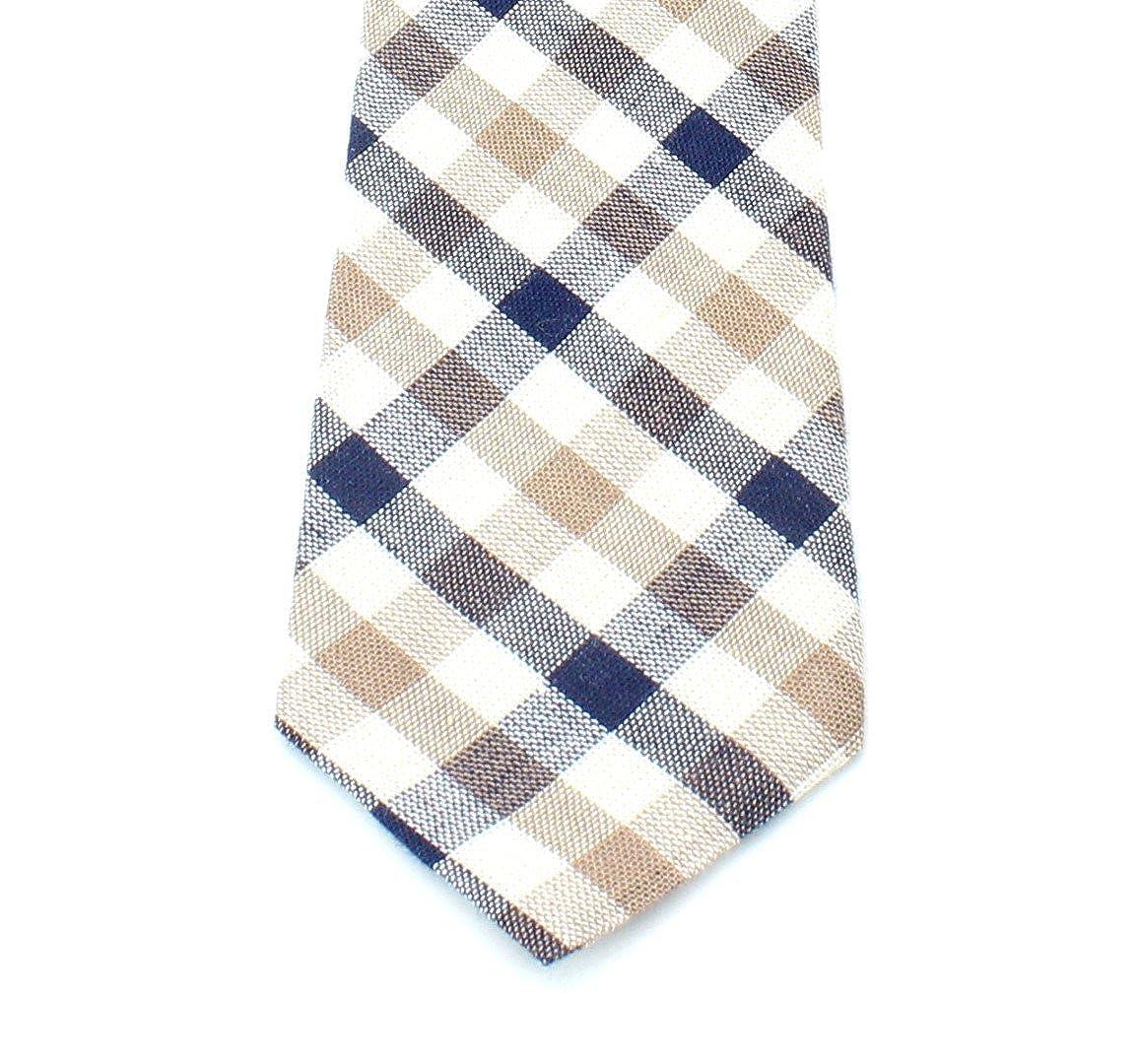 Kids Cotton Formal Necktie Tie Modern Checker Gingham Pattern Light Bright Colors 2 1//2 Width