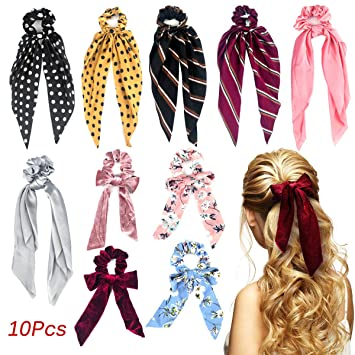 10pcs New Girls elastic hair ties Scrunchie Ponytail Holder Hair Accessories#1