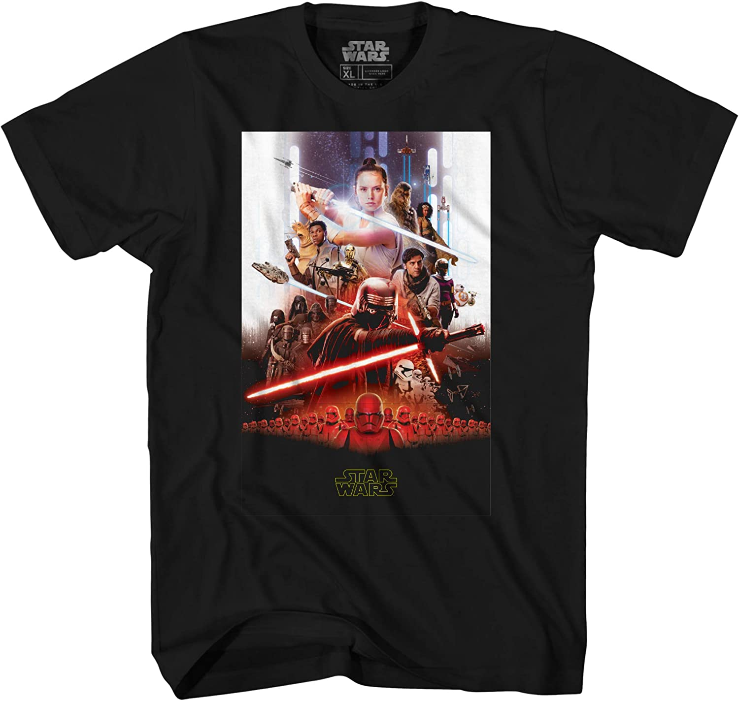 Star Wars Episode Ix Rise Of Skywalker Movie Poster T Shirt Amazon Com