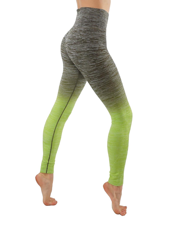 9b1c936fa6fcfa Amazon.com: CodeFit Yoga Power Flex Dry-Fit Pants Workout Printed Leggings  Ombre XS-3XL,!: Clothing