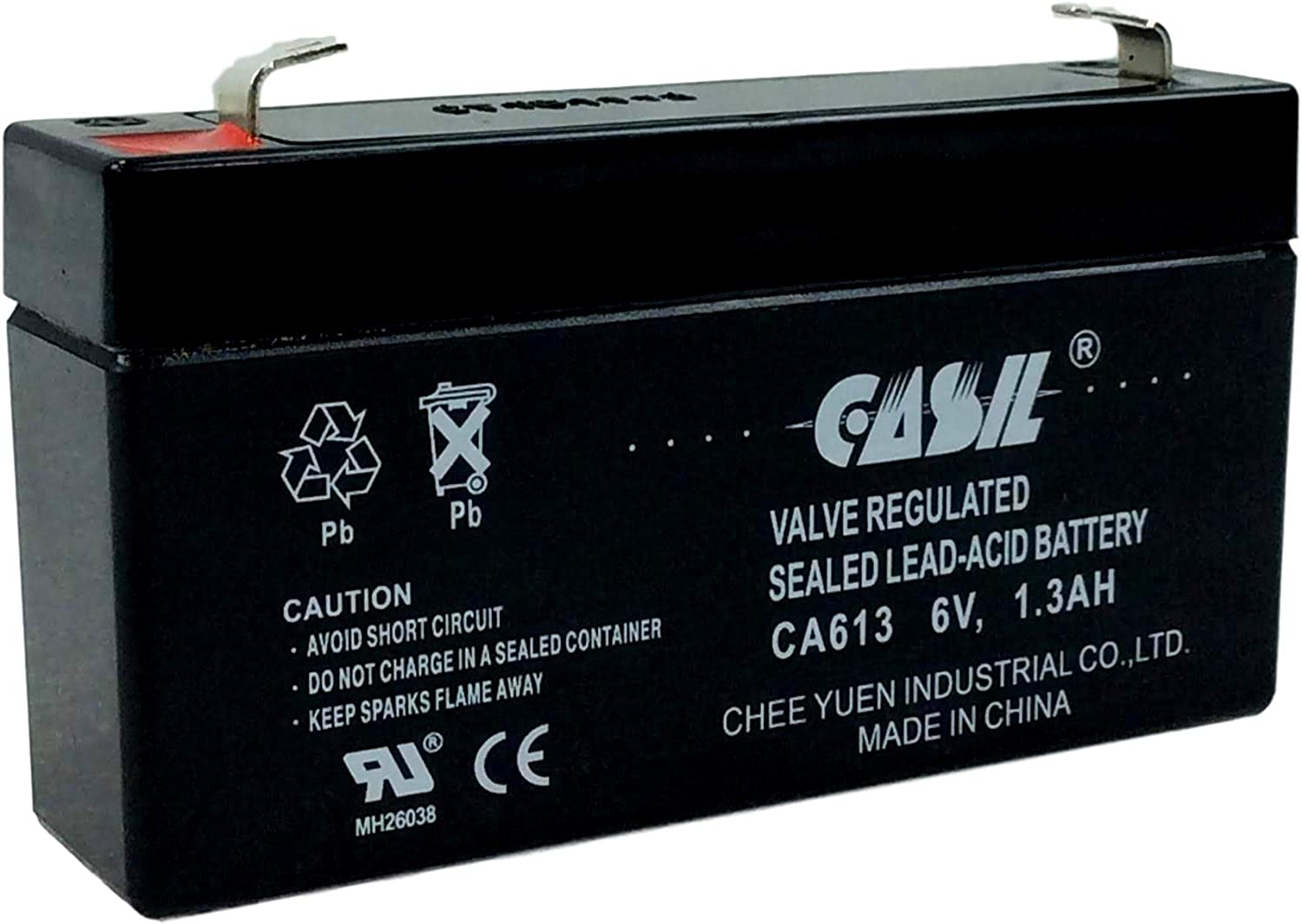 6v 1.3ah ge 600-1054-95r Simon xt Rechargeable AGM Sealed Lead Acid Battery by Casil CA613