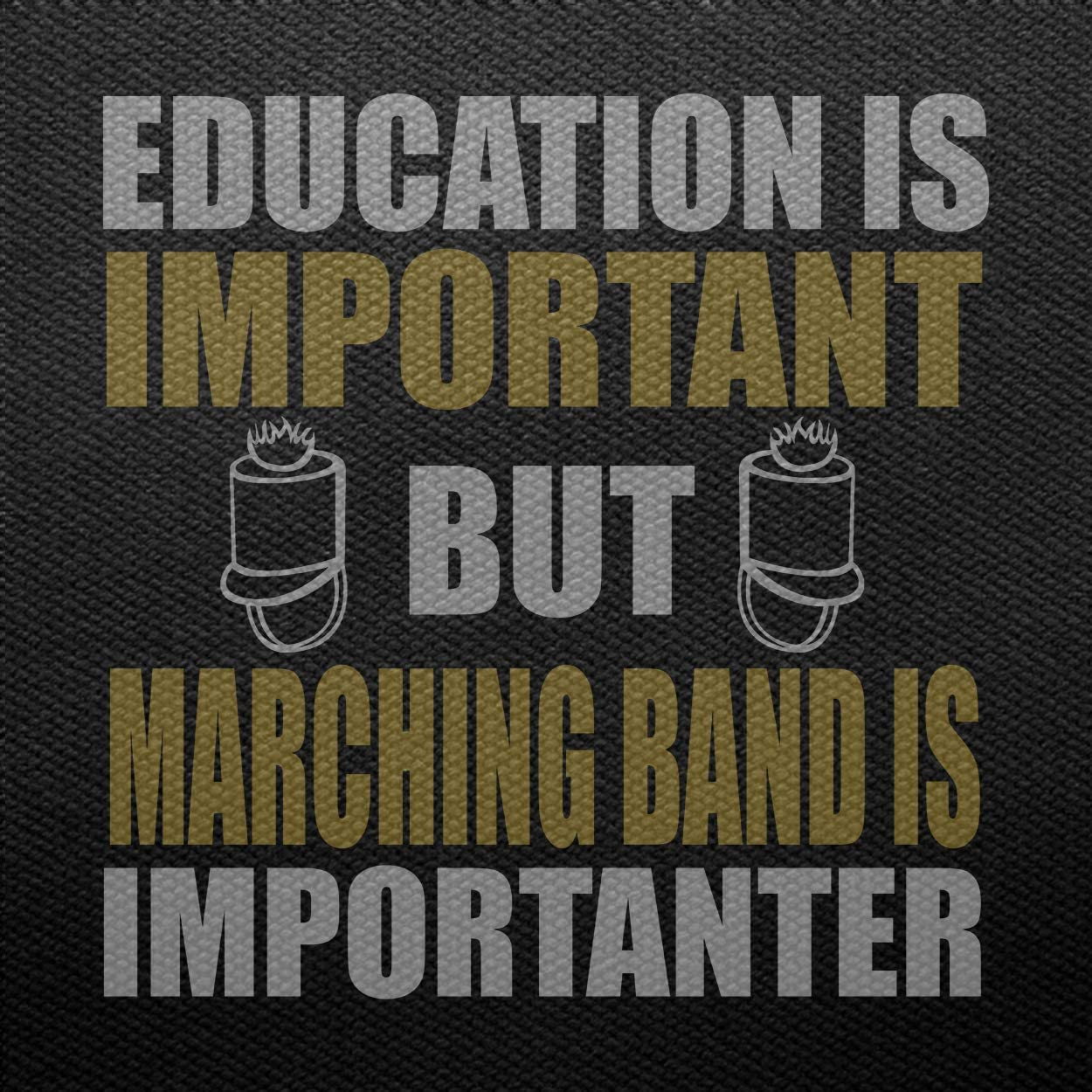 Marching Band Tshirts,Education is Import But Marching Band is Im Hoodie