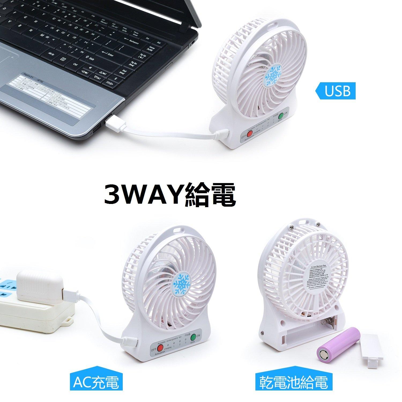 3WAY給源の卓上扇風機