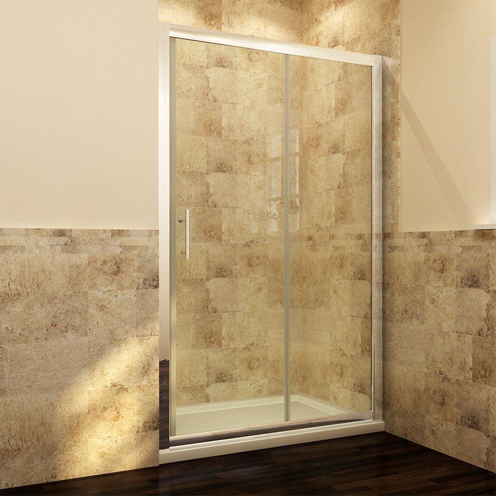 Duschtür 100 Cm Nischentür Duschabtrennung Mit Schiebetür Aus Glas