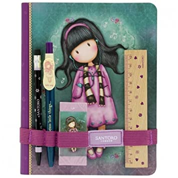 fb8f2a038 Santoro Gorjuss Notebook with Stationery - Little Song: Amazon.co.uk:  Office Products