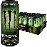 Monster Energy Rehab Green Tea, 24er Pack (24 x 500 ml) Dose