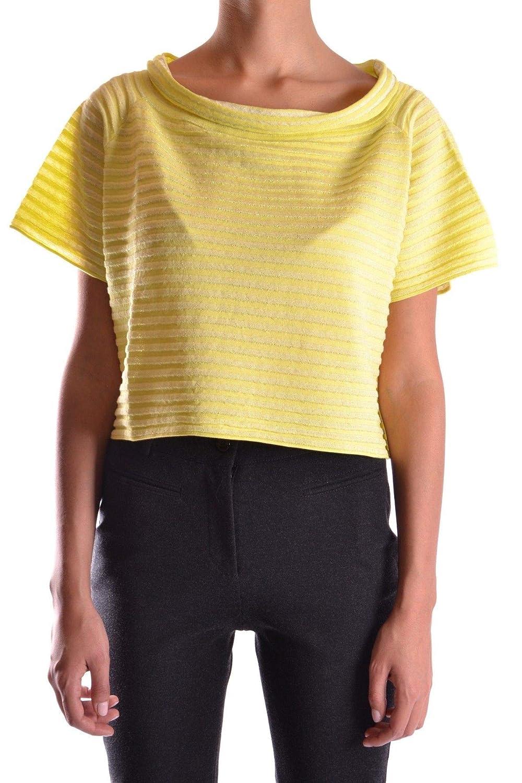 Fabrizio Del Carlo Womens MCBI16039 Yellow Cotton Jumper