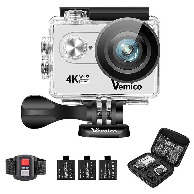 150 opinioni per Vemico 4K Action Camera Ultra HD Impermeabile Casco Camera 16MP WIFI Sport 40M
