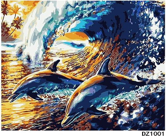 Peinture à L Huile De Paysage Decoration 1001 Wave Dauphin