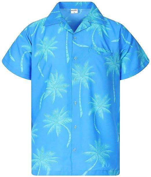 c1dba6d6 Funky Hawaiian Shirt, Shortsleeve, Palmshadow New, Turquoise, XS