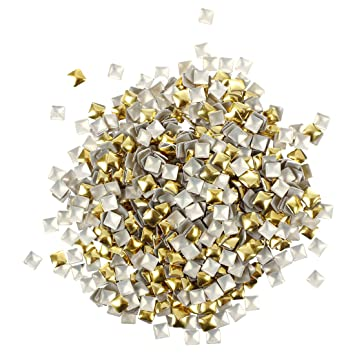 Amazon pack of 270 nail art studs 4mm gold and silver pack of 270 nail art studs 4mm gold and silver nail art prinsesfo Images