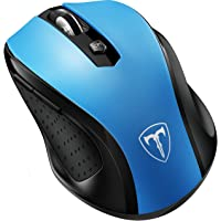 VicTsing MM057 2.4G Wireless Portable Mobile Mouse Optical Mice with USB Receiver, 5 Adjustable DPI Levels, 6 Buttons for Notebook, PC, Laptop, Computer, MacBook - Blue