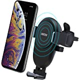 CHOETECH Wireless Car Charger, 7.5W Wireless Car Charging Mount Holder Compatible with iPhone Xs/XS Max/XR / X/ 8/8 Plus, 10W Fast Charging Samsung Galaxy Note 8 S8 S8 Plus S7 S7 Edge S6 Edge Plus