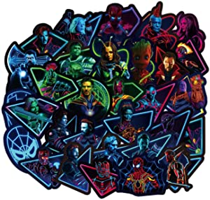 Superhero Stickers 100pcs Marve_l Luminous Stickers for Water Bottle Skateboard Guitar Motorcycle Luggage Waterproof Vinyl Graffiti Stickers